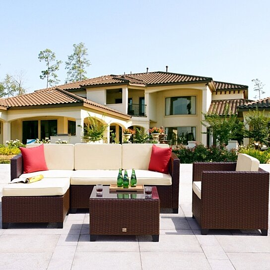 Buy 6 PC Rattan Wicker Outdoor Patio Furniture Sectional Sofa Set Deck Pool  Couch By Cloud Mountain Inc On Dot U0026 Bo