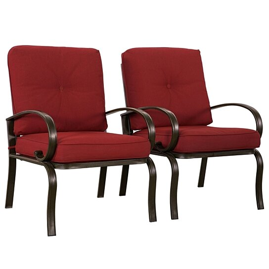 Patio Furniture For Over 300 Lbs.2 Pc Patio Wrought Iron Chair