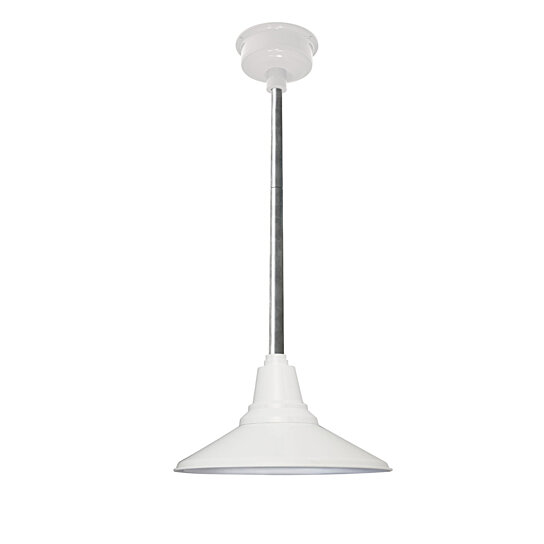 "Buy 16"" Calla LED Pendant Light In White With Galvanized"