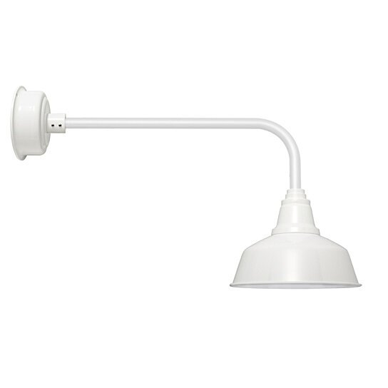 """Goodyear 1 Light Outdoor Barn Light: Buy 16"""" Traditional Goodyear LED Barn Light In White By"""
