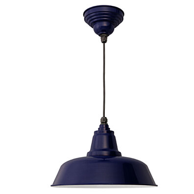"Adjustable Length Cobalt Blue LED 14"" Goodyear Ceiling Pendant Light"