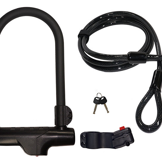 buy armbar bicycle u lock with lotuslock cable bike lock combo by cocoweb on opensky. Black Bedroom Furniture Sets. Home Design Ideas