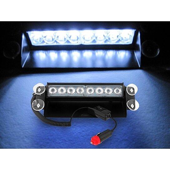 buy zone tech 8 led visor dashboard emergency vehiclestrobe lights. Black Bedroom Furniture Sets. Home Design Ideas