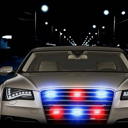buy zone tech blue red 54x led police vehicle deck grille. Black Bedroom Furniture Sets. Home Design Ideas
