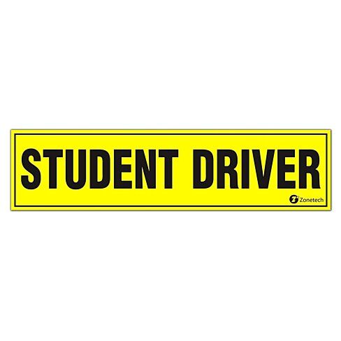 Buy zone tech magnetic student driver bumper magnet by for Home decor zone