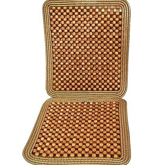 Buy Zone Tech Natural Wooden Beaded Massage Seat Cushion Car Home Chair Cover Tan By Comfort