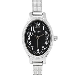 Dakota Ladies Oval Twist 21mm Stainless Steel Expansion Band Watch
