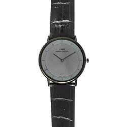 Dakota Vintage 1945 Style Slim Fit Watch with Leather Band