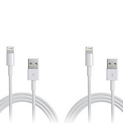 2 Pack | 6.5 Foot Apple MFI Certified USB Lightning Cable