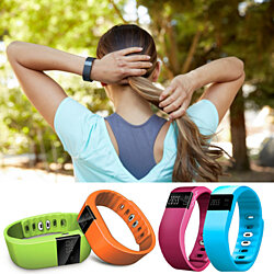 Fitness Tracker Wireless Smart Band with Multi-Functions Activity Tracker for Apple and Android