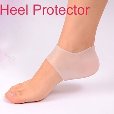 Pair of Heel Protector and Moisture Locking Silicon Gel