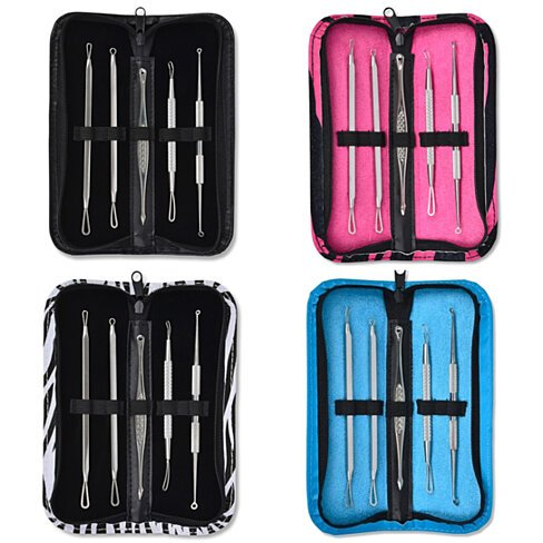 Professional Blackhead & Blemish Extractor Tool Kit (5-PC)
