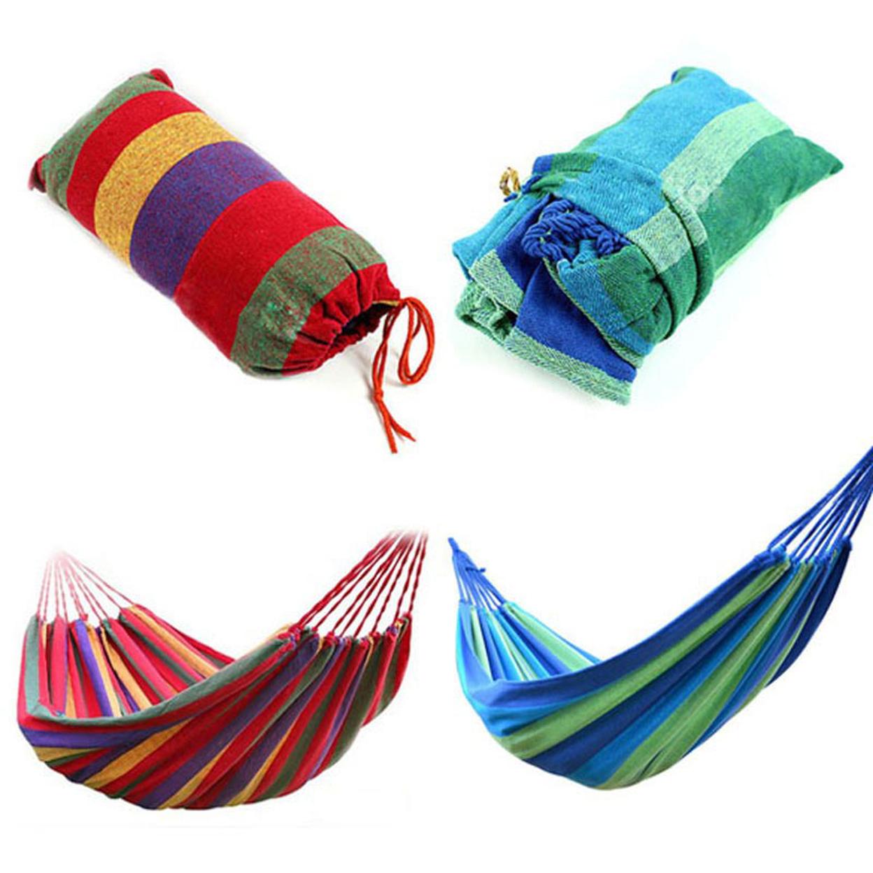 Outdoor Travel Hammock in 2 Colors - Blue Stripes 58b86dd4c915e42a761bba5b