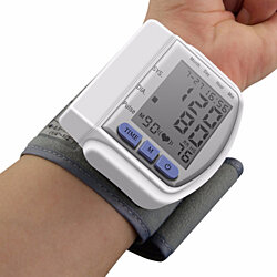 LCD Digital Automatic Wrist Cuff Blood Pressure Monitor