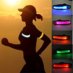 LED Slap Band Glow Bracelet-Comes In 6 Colors Pick 1