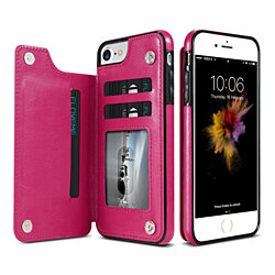 Leather Wallet Case for iPhone/Plus/X- Assorted Colors