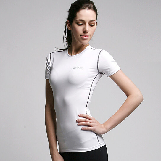 Buy athlete women 39 s compression base layer short sleeve for Womens base layer shirt