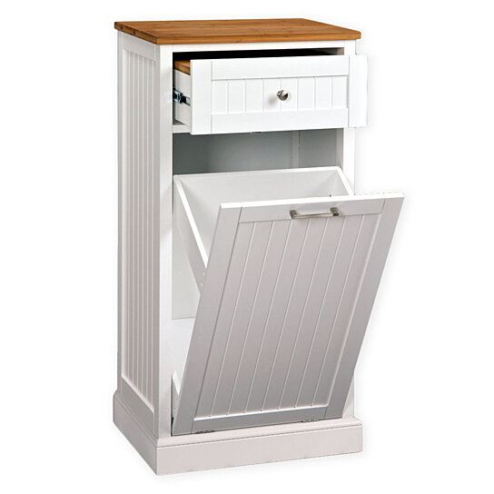Buy Microwave Kitchen Cart With Hideaway Trash Can Holder