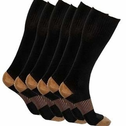 Copper-Infused Compression Socks (5 Pack)