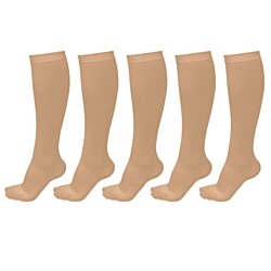 Unisex Anti-Fatigue Travel Socks (5-Pack)