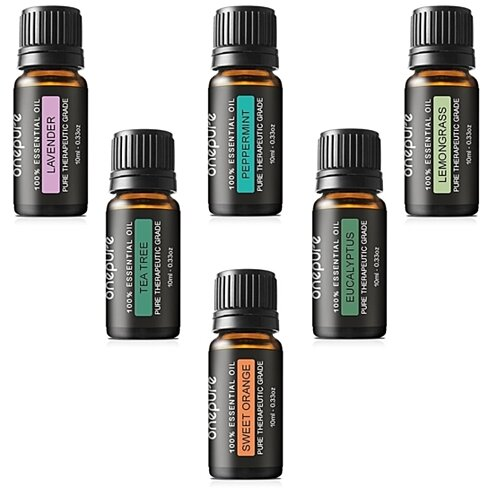 Aromatherapy Therapeutic Grade Essential Oil Gift Set (6-Piece Set)