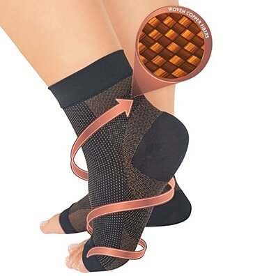 Copper-Infused Foot Sleeves for Plantar Fasciitis ( 2-pack )