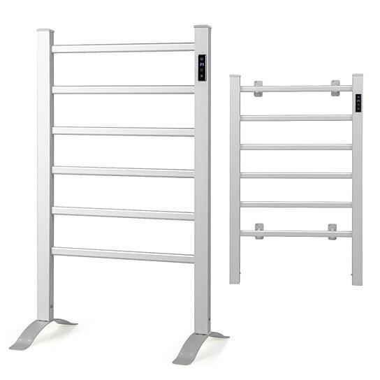 Buy Costway Freestanding Wall Mounted Electric Towel Rail Rack Bathroom Warmer Heated By Costway On Dot Bo