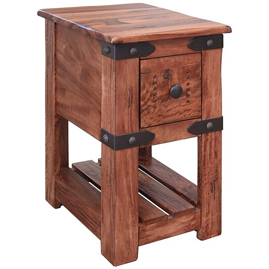 Buy Granville Parota Wood Side Table Series Ii By Crafters And