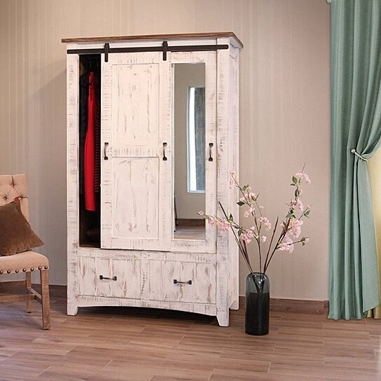 Buy Greenview Wardrobe Armoire - Distressed White by ...