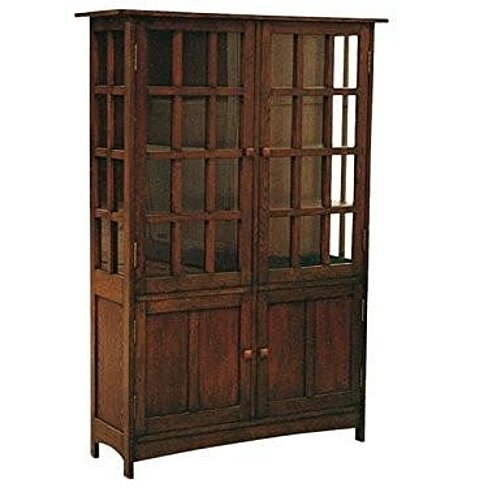 Mission Oak China Cabinet / Arts and Crafts Bookcase