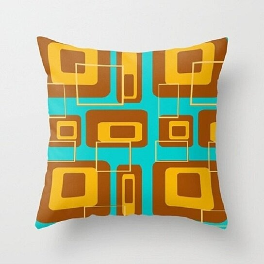 Buy Mid Century Modern Throw Pillow By Crash Pad Designs On Dot Bo