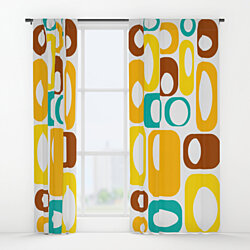 Mid Century Modern Curtain Panel - Claude
