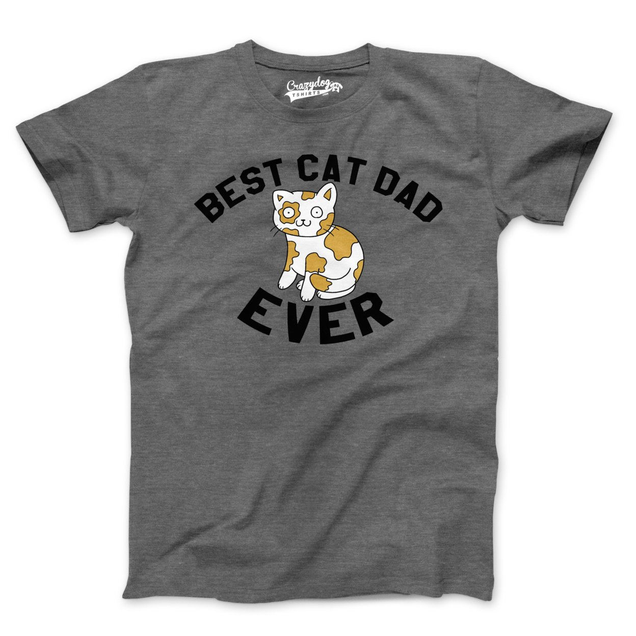 Best Cat Dad Ever T Shirt Fathers Day Funny Gift Mens Small