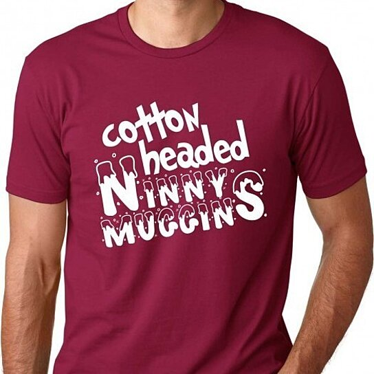 Buy Cotton Headed Funny Christmas Movie T Shirt By