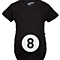 Eight Ball Funny Pool Belly Bump Maternity Shirt (Black)