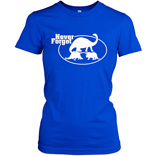 Buy never forget cool dinosaur t shirt by crazydogtshirts for Be creative or die shirt
