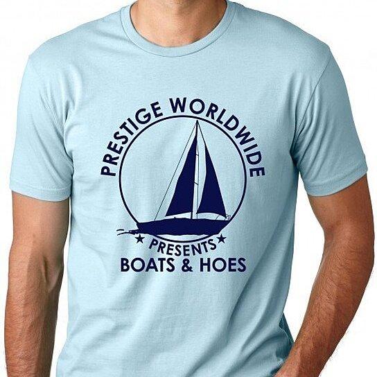 Buy Prestige Worldwide Boats Amp Hoes T Shirt By