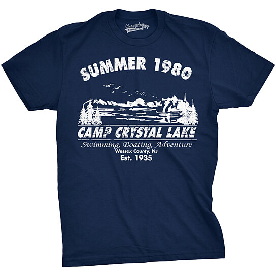 Buy Vintage Summer 1980 Camp Crystal Lake T Shirt By