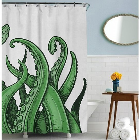 Buy Tentacles Shower Curtain By CrazyDogTshirts On OpenSky