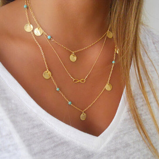 Buy Boho Turquoise Necklace Set In Gold Or Silver