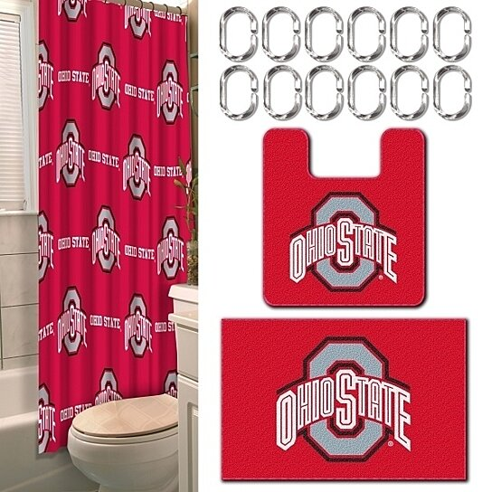 buy ohio state buckeyes 15 pc bathroom combo set shower