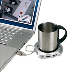 Coffee or Tea Mug Warmer with USB Ports
