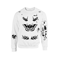 THE NEWEST UPDATED VERSION Unisex Crewneck Sweatshirt Harry Styles Tattoos One Direction 1D