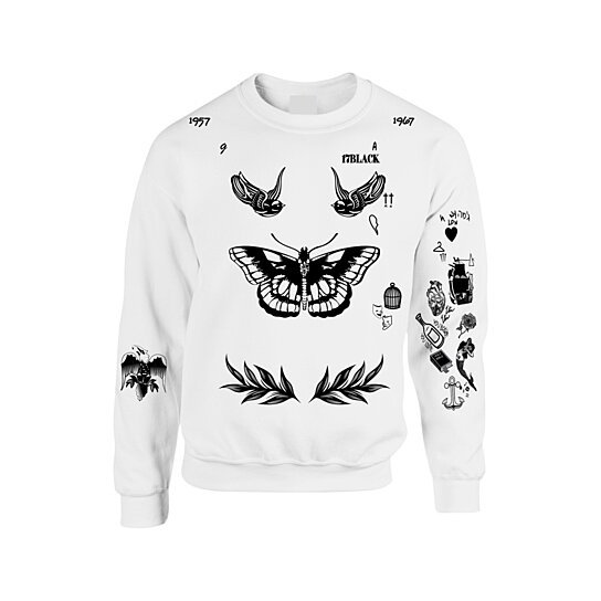 9124f95ac Buy THE NEWEST UPDATED VERSION Unisex Crewneck Sweatshirt Harry Styles  Tattoos One Direction 1D by Custom t's on OpenSky