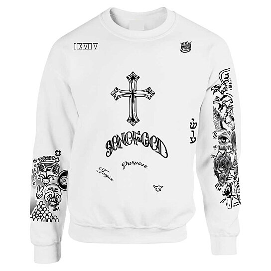 Buy updated version unisex crewneck sweatshirt justin for Justin bieber tattoo sweatshirt