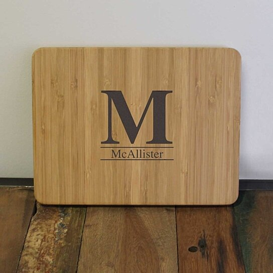 buy personalized large initial bamboo cutting board by cuttingboardsyourway on opensky. Black Bedroom Furniture Sets. Home Design Ideas