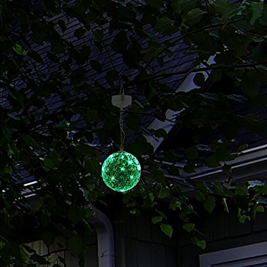 Buy Hoont 6 Quot Solar Powered Crystal Glass Gazing Ball