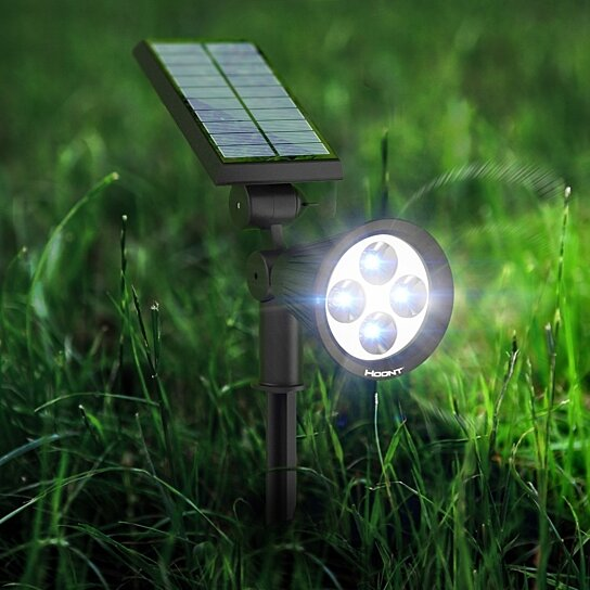 buy hoont solar powered outdoor landscape garden lighting led. Black Bedroom Furniture Sets. Home Design Ideas