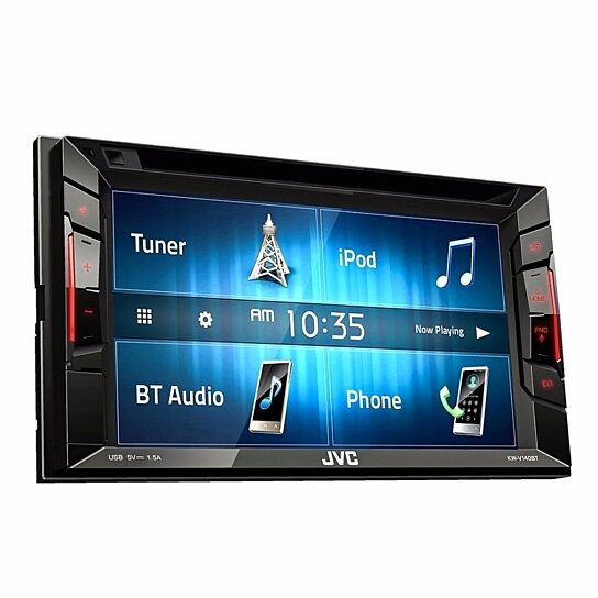 buy jvc kw v140bt 2 din car in dash cd dvd bluetooth receiver w 6 2 touchscreen by cybervalue1. Black Bedroom Furniture Sets. Home Design Ideas