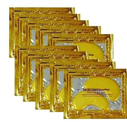 10 pairs New Crystal 24K Gold Powder Gel Collagen Eye Mask